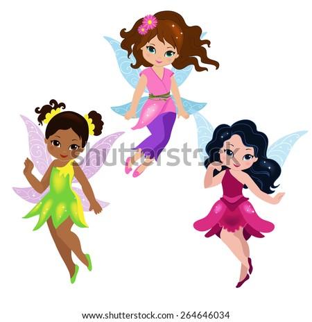 illustration of three cute