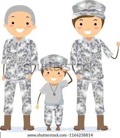 illustration of three