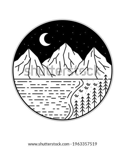 illustration of three mountains