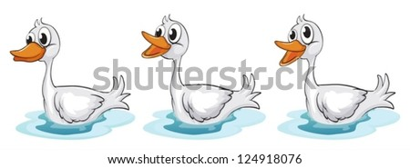 Illustration of three smiling ducks