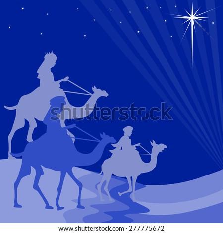 illustration of three wise men