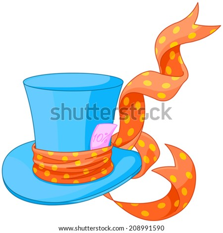 illustration of top hat of mad