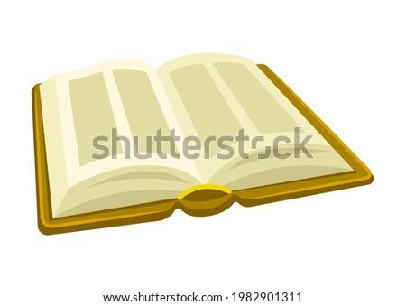 Illustration of Torah Book. Jewish Law. Ancient parchment. Photo stock ©