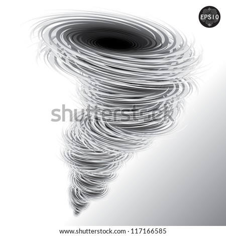 Illustration of tornado, Hurricane, Vector