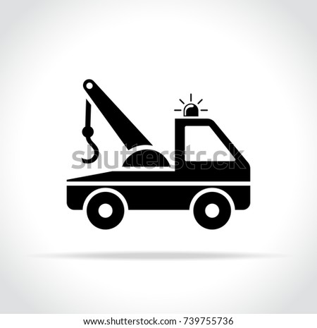 Towing Truck Simple Illustration Download Free Vector Art Stock