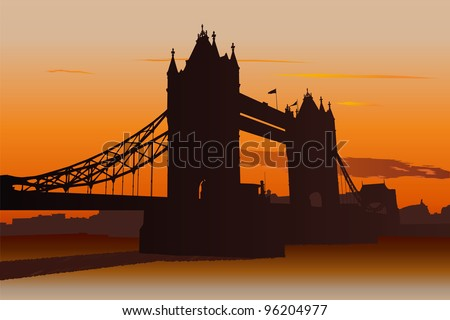 illustration of tower bridge in