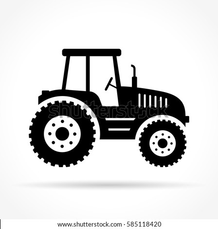 Illustration of tractor on white background