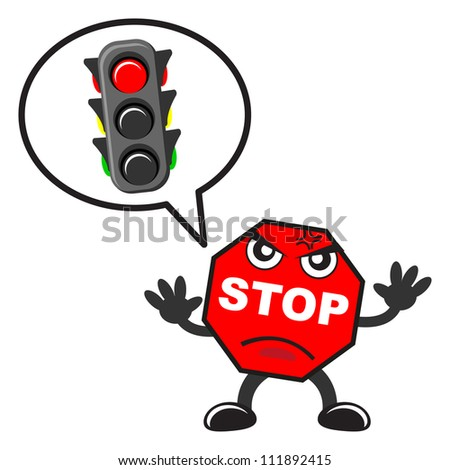 illustration of traffic sign