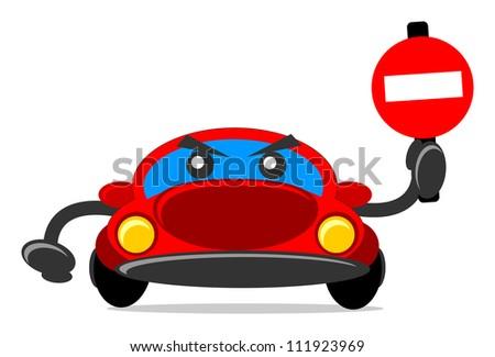 illustration of traffic sign