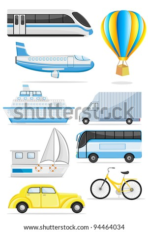 illustration of transportation icon on isolated background - stock vector