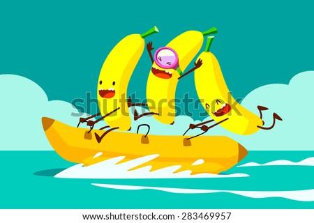 illustration of tree bananas