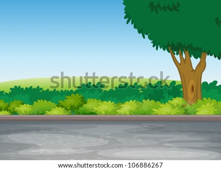 illustration of tree beside