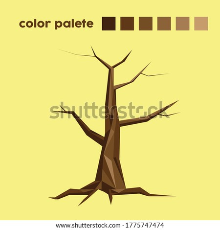 illustration of tree with low