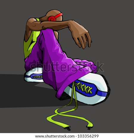 illustration of trendy guy