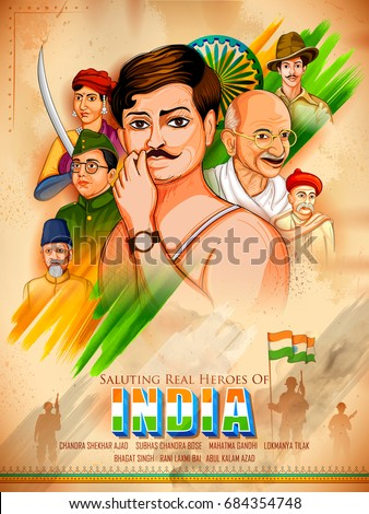illustration of tricolor india