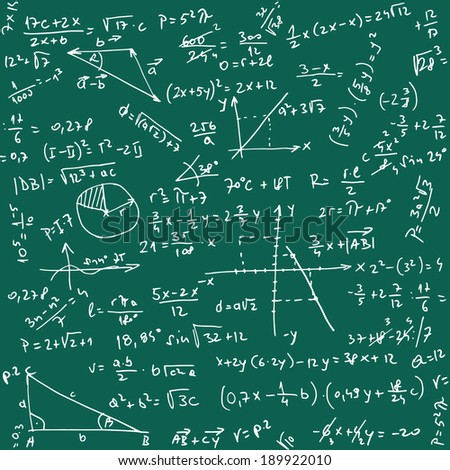 Illustration of Trigonometry Pattern as Vector Seamless Background