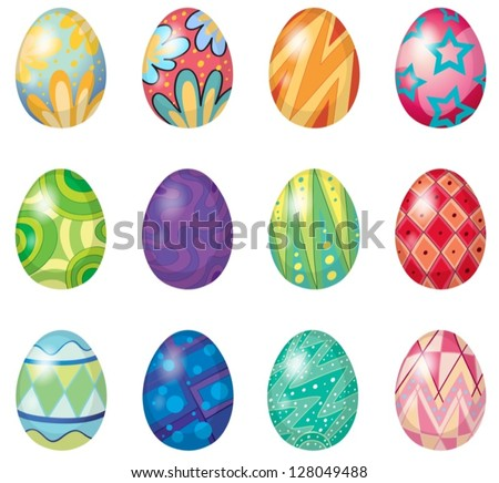 illustration of twelve easter