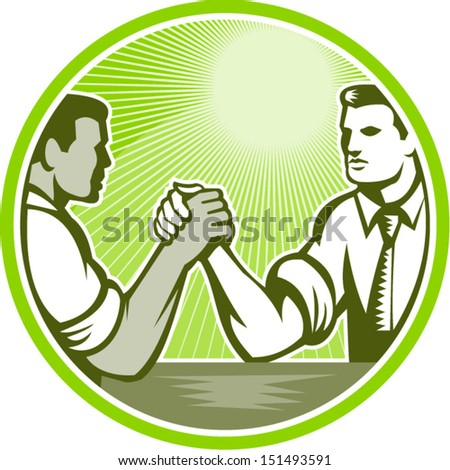 illustration of two businessman