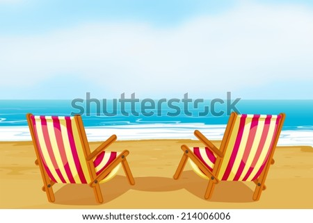 illustration of two chairs on a