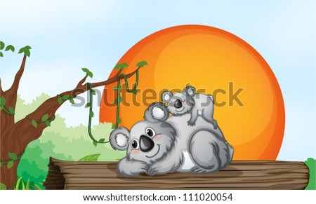 illustration of two grey bears