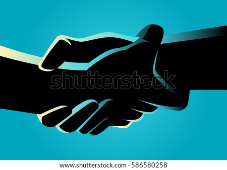 illustration of two hands...