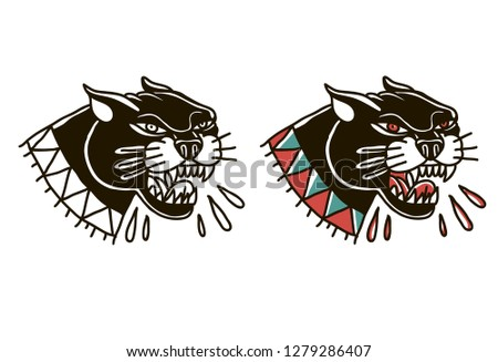 illustration of two panther