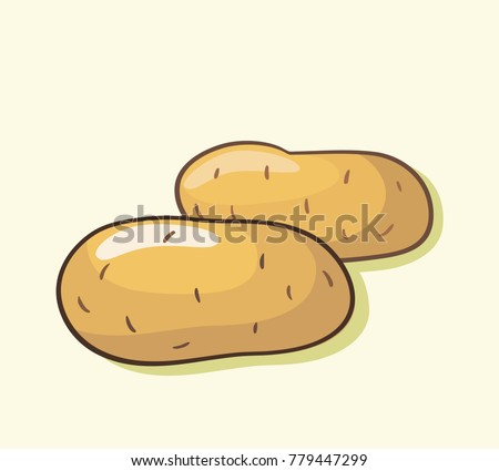 Illustration of two potatoes