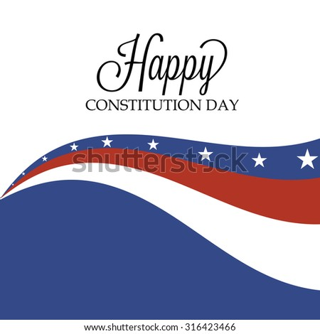 Illustration of U.S.A Flag color for Constitution Day Background.
