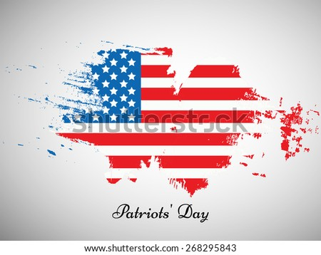 Illustration of U.S.A Flag for Patriots\' Day