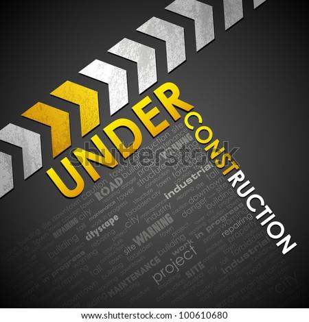 illustration of under construction background