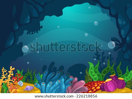 illustration of under the sea