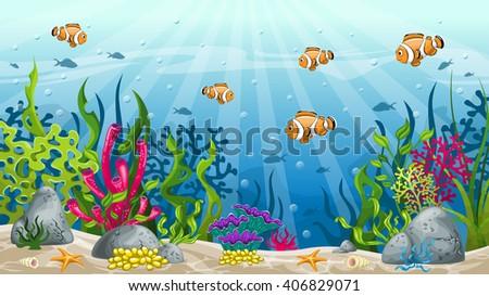 illustration of underwater