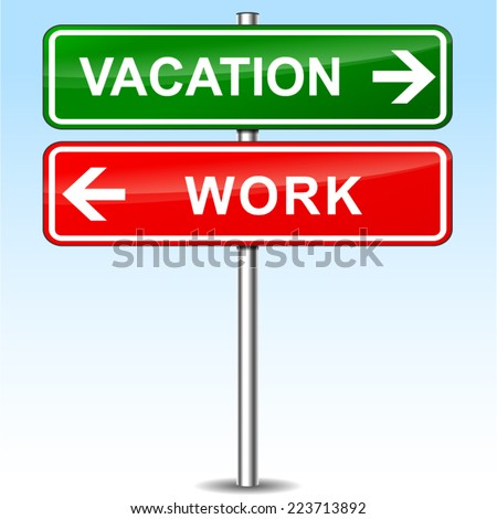 illustration of vacation and