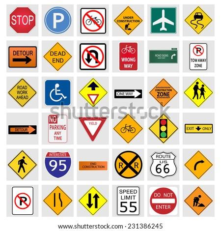 illustration of various road