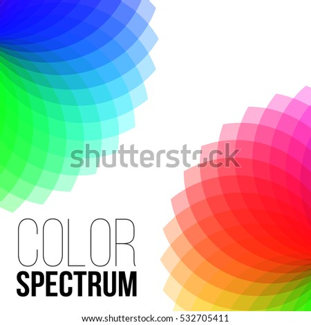 Illustration of Vector Color Wheel.