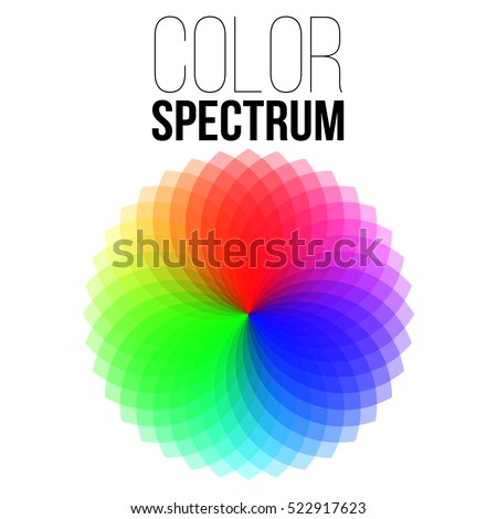 Illustration of Vector Color Wheel. Vector Color Spectrum.