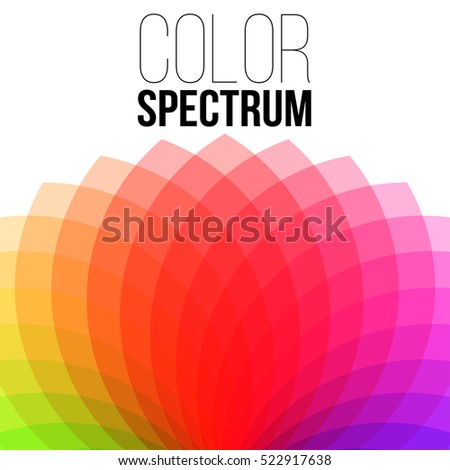 Illustration of Vector Color Wheel. Vector Color Spectrum. Red Spectrum.