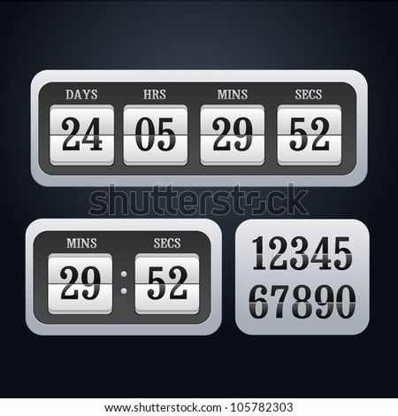Illustration of vector countdown timer