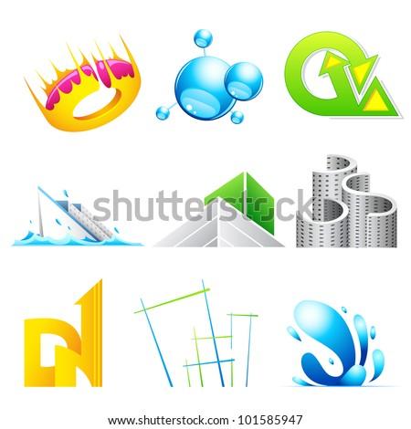 illustration of vector logo icon design for business branding