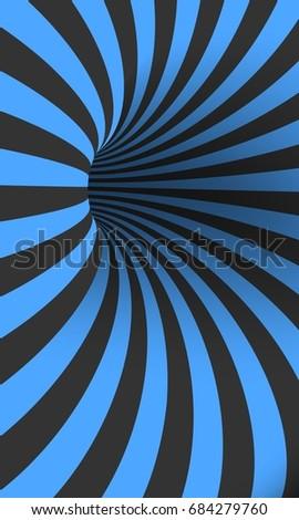 illustration of vector tunnel