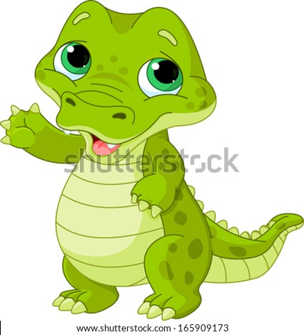 Animated Alligators Cute Illustration of very cute baby