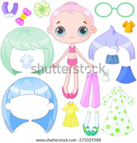 illustration of very cute dress