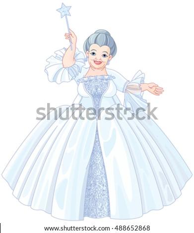 illustration of very cute fairy