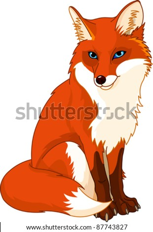Illustration of very cute fox