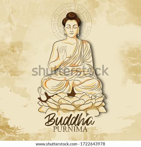 illustration Of Vesak Day or Buddha Purnima with nice and creative design illustration Stockfoto ©