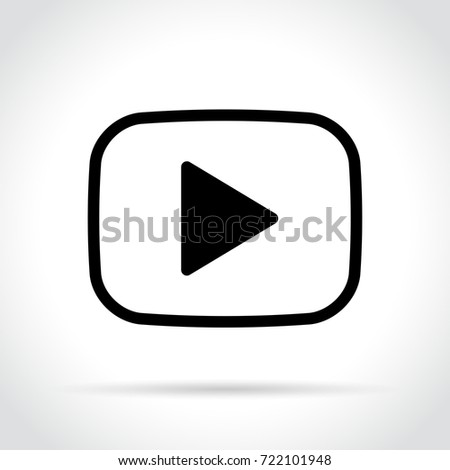 Illustration of video player icon on white background #722101948