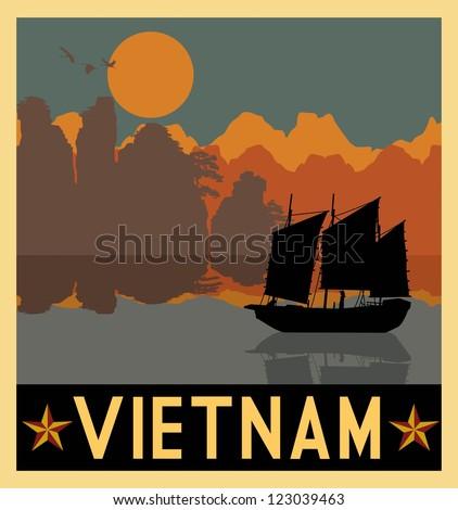 illustration of vietnam...
