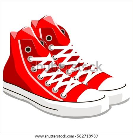 illustration of vintage red