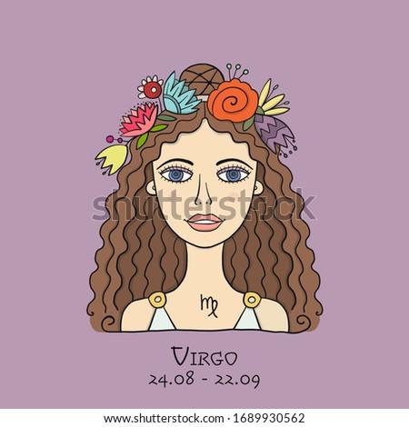 illustration of virgo zodiac