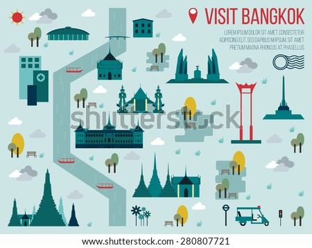 illustration of visit bangkok